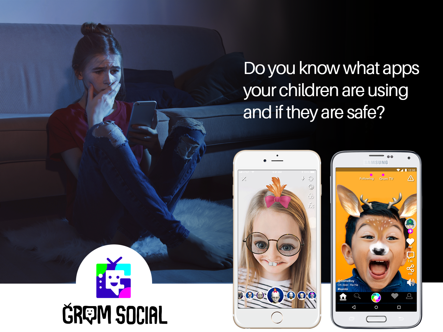 Grom Social is safe for kids