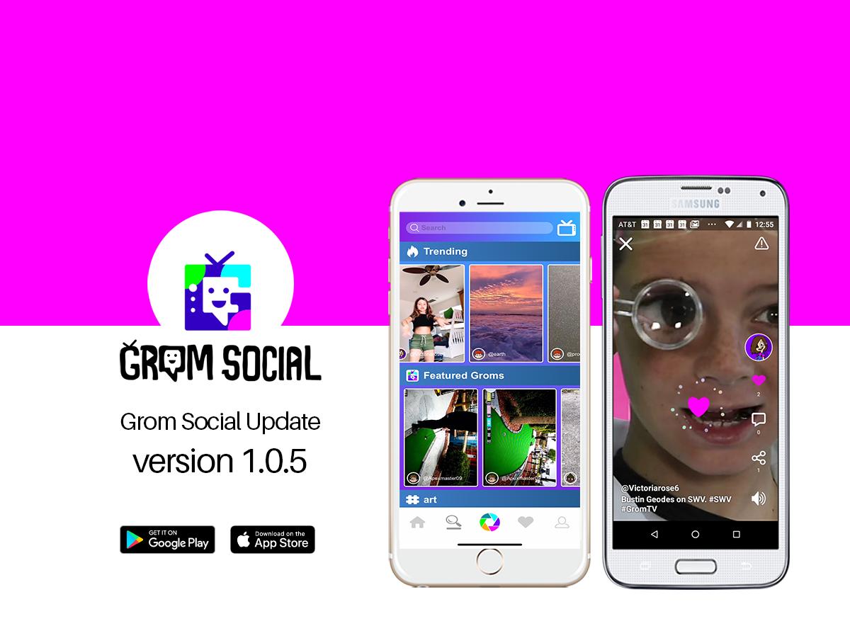 Grom Social App Update 1.0.5