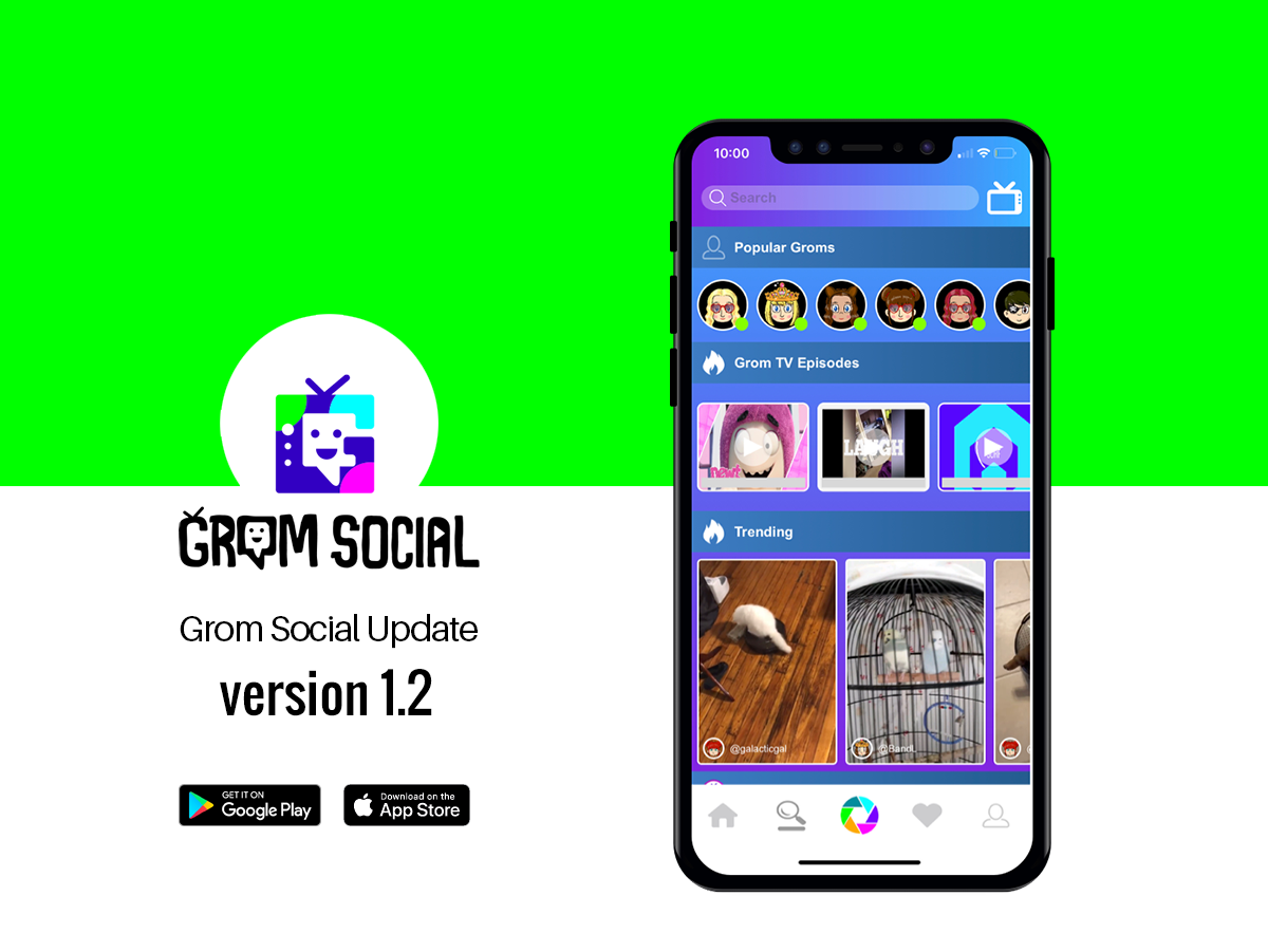 Grom Social Update – Version 1.2 2